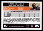 2005 Topps #429  Roscoe Parrish  Back Thumbnail