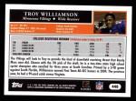 2005 Topps #440  Troy Williamson  Back Thumbnail