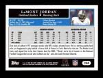 2005 Topps #254  LaMont Jordan  Back Thumbnail