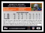 2005 Topps #383  Markus Spears  Back Thumbnail