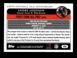 2005 Topps #355   -  Andre Johnson All-Pro Back Thumbnail