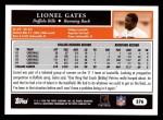 2005 Topps #376  Lionel Gates  Back Thumbnail