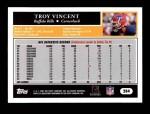 2005 Topps #284  Troy Vincent  Back Thumbnail
