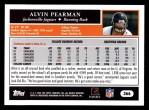 2005 Topps #366  Alvin Pearman  Back Thumbnail