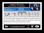2005 Topps #271  Gibril Wilson  Back Thumbnail