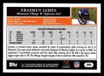 2005 Topps #390  Erasmus James  Back Thumbnail