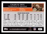 2005 Topps #417  Charlie Frye  Back Thumbnail