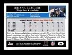 2005 Topps #246  Brian Urlacher  Back Thumbnail