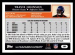 2005 Topps #389  Travis Johnson  Back Thumbnail