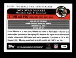 2005 Topps #353   -  Donovan McNabb All-Pro Back Thumbnail
