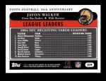 2005 Topps #319  Javon Walker  Back Thumbnail