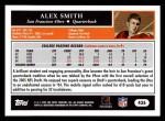 2005 Topps #435  Alex Smith  Back Thumbnail