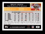 2005 Topps #307  Brian Griese  Back Thumbnail
