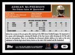 2005 Topps #382  Adrian McPherson  Back Thumbnail