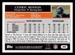 2005 Topps #408  Cedric Benson  Back Thumbnail