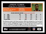 2005 Topps #393  Airese Currie  Back Thumbnail