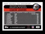 2005 Topps #318  Peyton Manning  Back Thumbnail