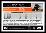 2005 Topps #406  Fred Gibson  Back Thumbnail