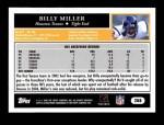 2005 Topps #288  Billy Miller  Back Thumbnail