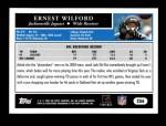 2005 Topps #256  Ernest Wilford  Back Thumbnail