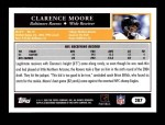 2005 Topps #287  Clarence Moore  Back Thumbnail