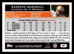 2005 Topps #401  Rasheed Marshall  Back Thumbnail
