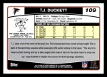2006 Topps #109  T.J. Duckett  Back Thumbnail