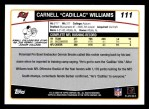 2006 Topps #111  Cadillac Williams  Back Thumbnail