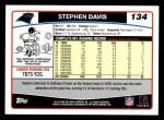 2006 Topps #134  Stephen Davis  Back Thumbnail