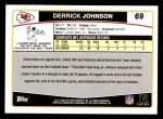 2006 Topps #69  Derrick Johnson  Back Thumbnail