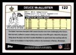 2006 Topps #123  Deuce McAllister  Back Thumbnail