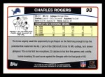 2006 Topps #98  Charles Rogers  Back Thumbnail