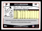 2006 Topps #35  Keith Brooking  Back Thumbnail