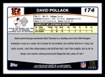 2006 Topps #174  David Pollack  Back Thumbnail