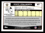 2006 Topps #41  Donte Stallworth  Back Thumbnail