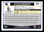 2006 Topps #24  Shawne Merriman  Back Thumbnail