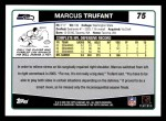 2006 Topps #75  Marcus Trufant  Back Thumbnail