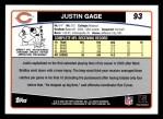2006 Topps #93  Justin Gage  Back Thumbnail