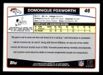 2006 Topps #46  Domonique Foxworth  Back Thumbnail