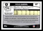 2006 Topps #87  Doug Gabriel  Back Thumbnail