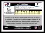 2006 Topps #71  J.P. Losman  Back Thumbnail