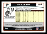 2006 Topps #198  Zach Thomas  Back Thumbnail