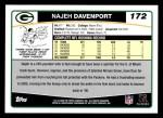 2006 Topps #172  Najeh Davenport  Back Thumbnail