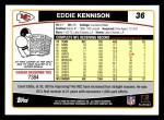 2006 Topps #36  Eddie Kennison  Back Thumbnail