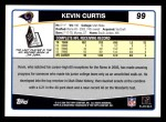 2006 Topps #99  Kevin Curtis  Back Thumbnail