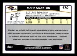 2006 Topps #170  Mark Clayton  Back Thumbnail