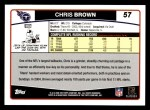 2006 Topps #57  Chris Brown  Back Thumbnail
