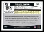 2006 Topps #119  Andrew Walter  Back Thumbnail