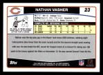 2006 Topps #23  Nathan Vasher  Back Thumbnail