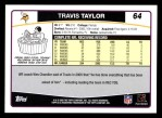 2006 Topps #64  Travis Taylor  Back Thumbnail